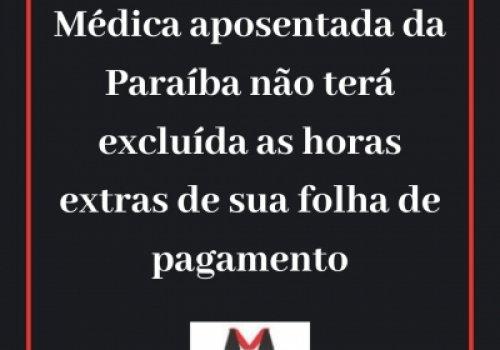 Tutela (liminar) deferida a favor de médica da Paraíba